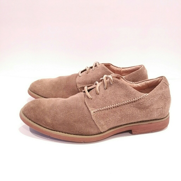 Sperry Mens Size Tan Suede Mens Dress
